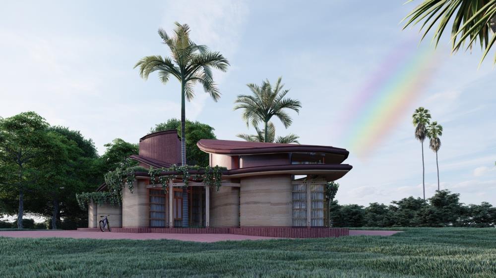 Earth Blossom House Rainbow